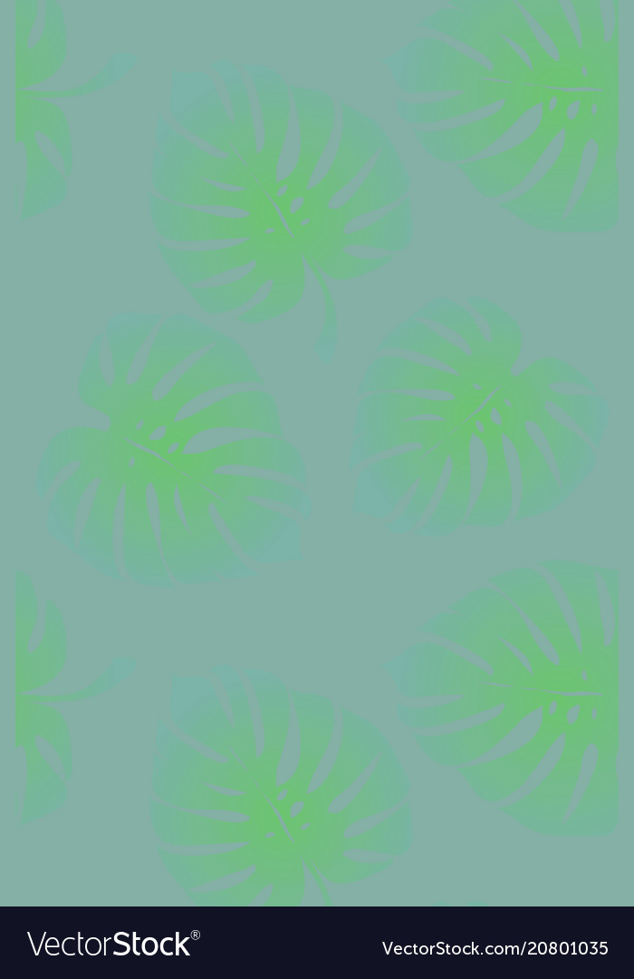Tropical leaves monstera pattern