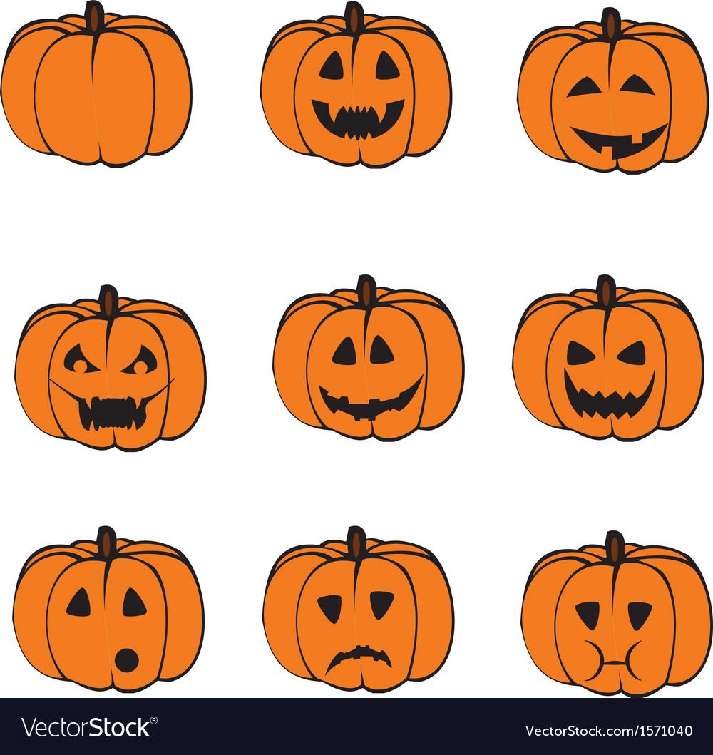 A set of pumpkins