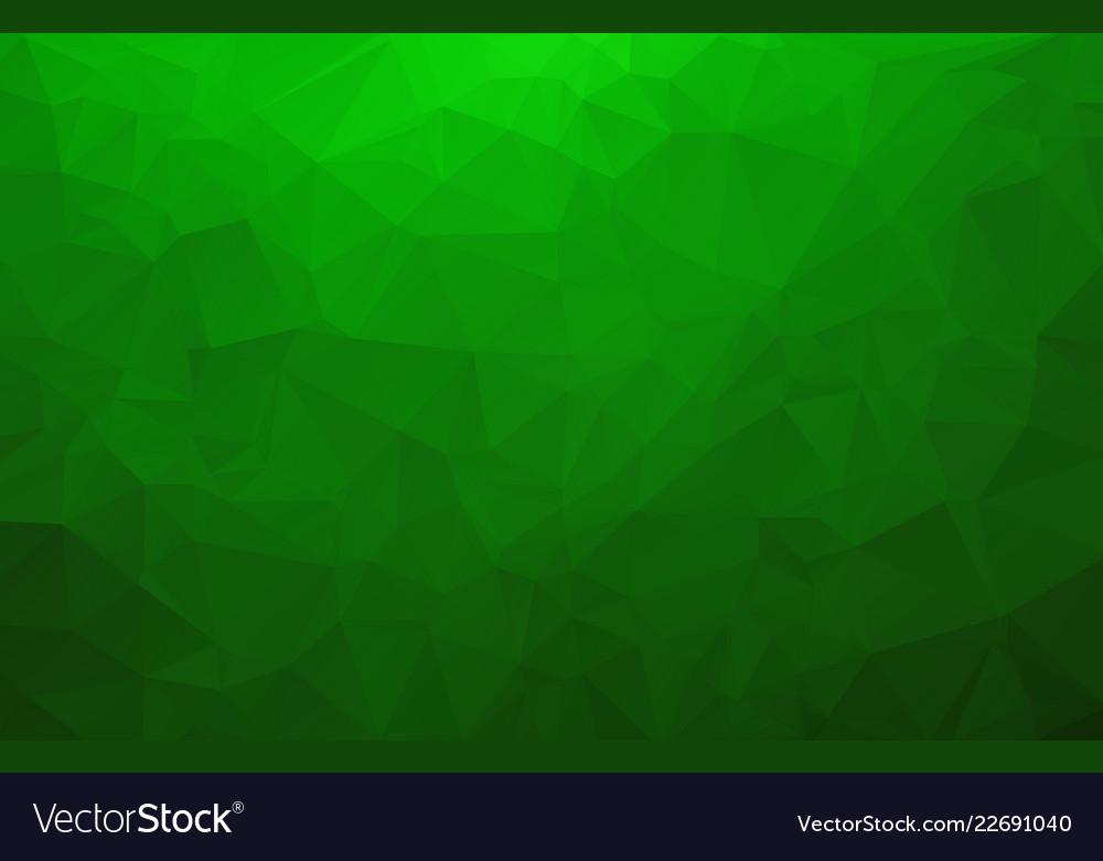 Abstract light green shining triangular