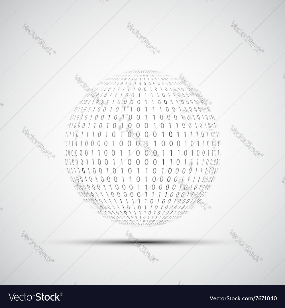 Ball of binary code vector image