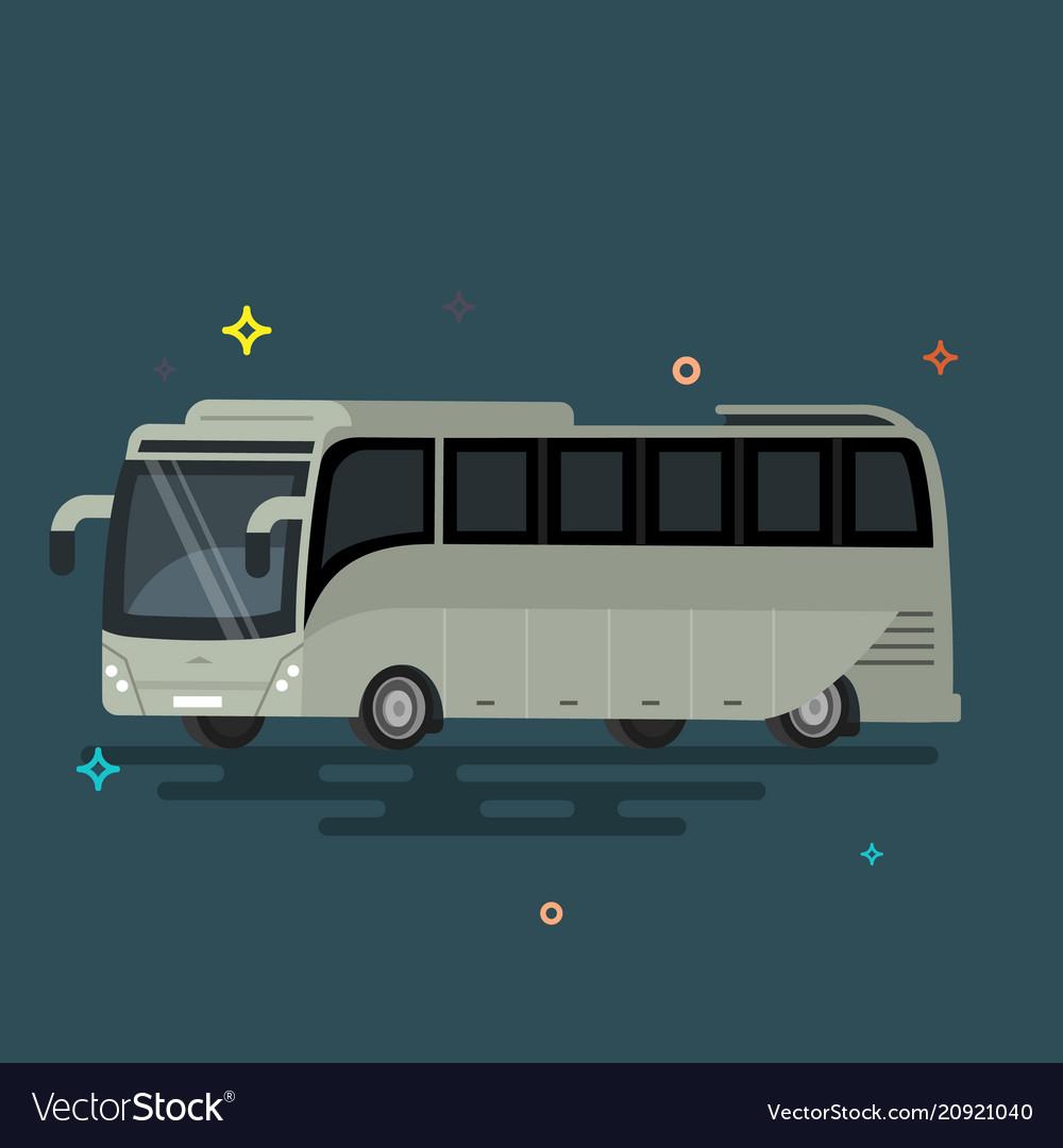 Bus flat design public transport