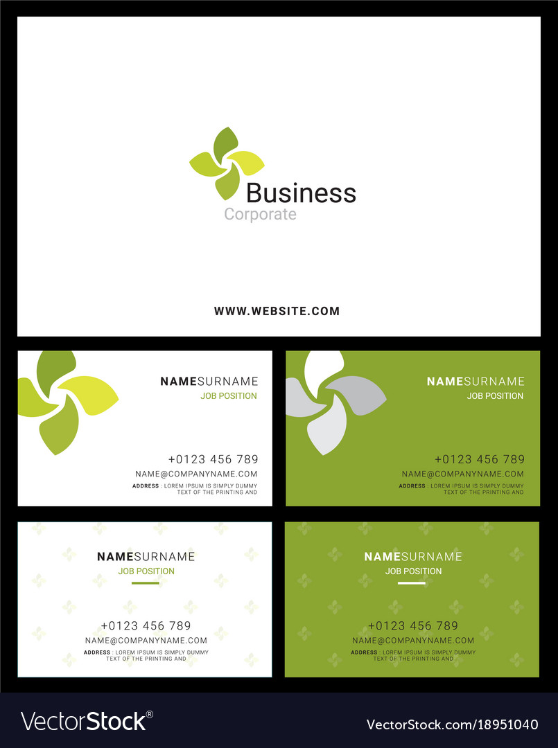 Corporate logo identity and business card with