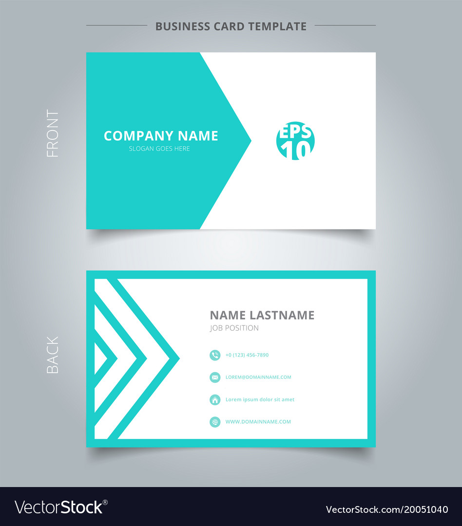 Creative business card and name card template vector image fbccfo Image collections