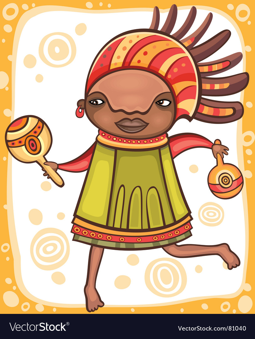 Ethnic girl vector image