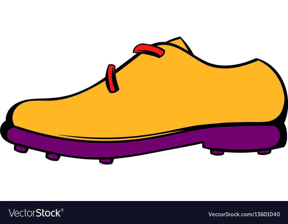 Golf shoe icon icon cartoon