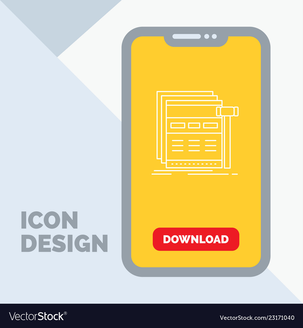 Internet page web webpage wireframe line icon in