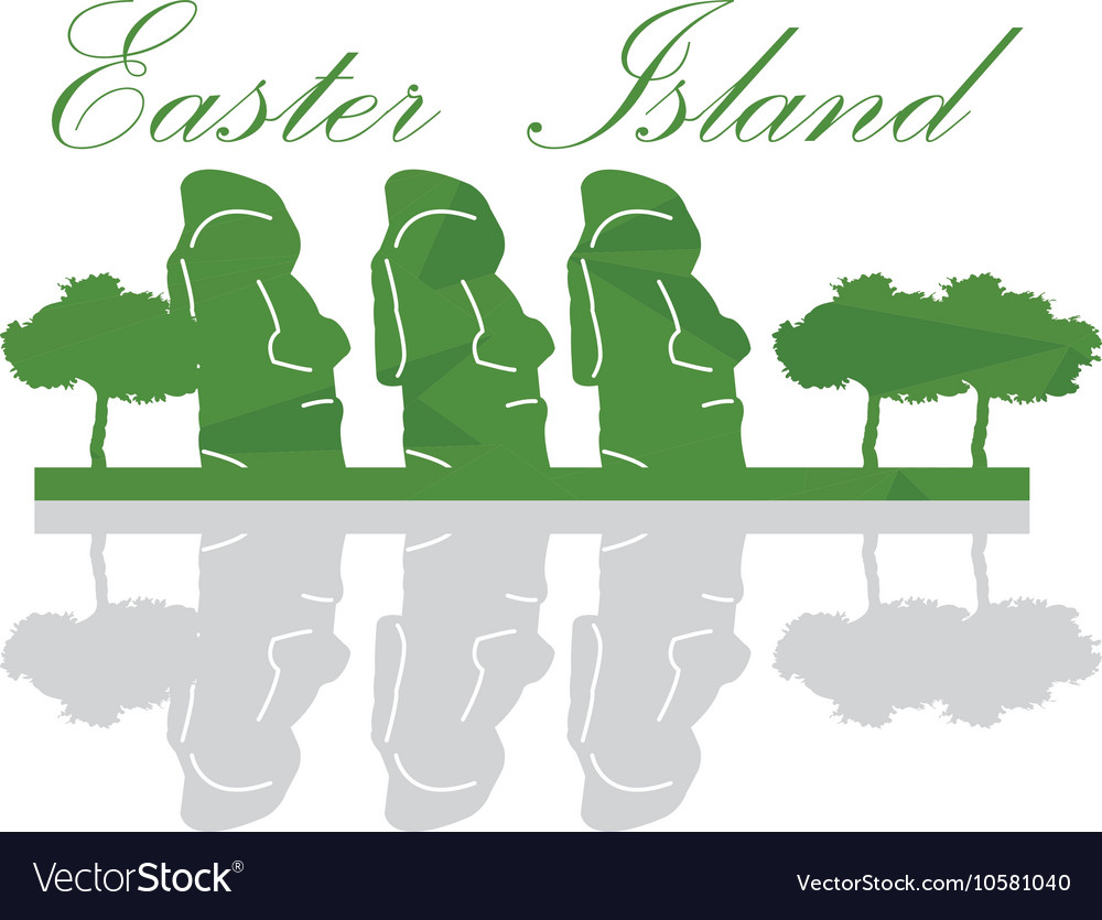 Isolated Easter Island Landscape vector image