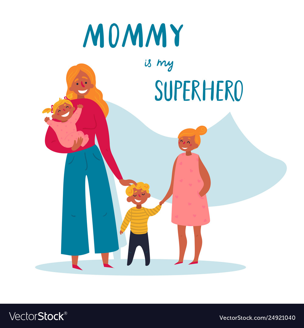 Mommy is my superhero text for happy mother s day