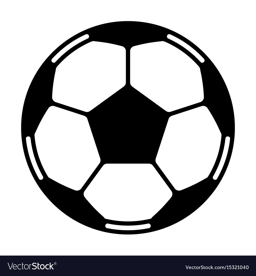 soccer ball royalty free vector image vectorstock rh vectorstock com soccer ball vector ai soccer ball vector art
