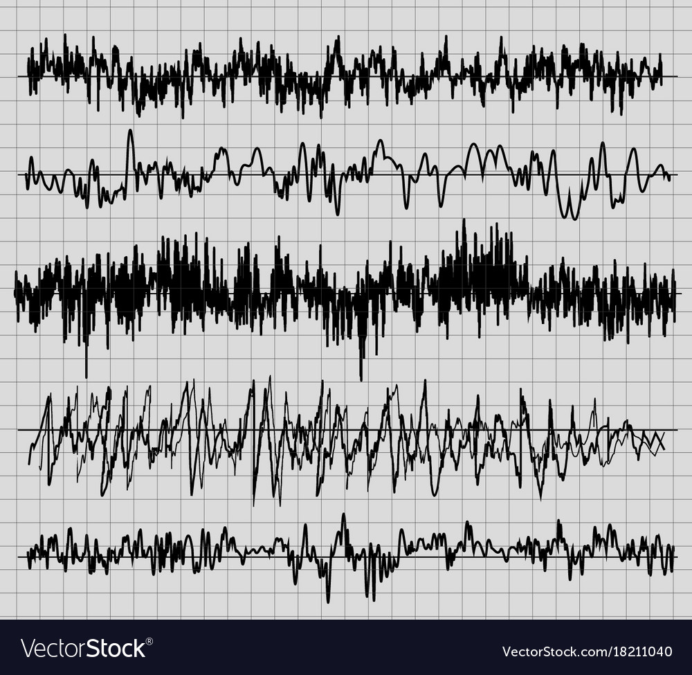 Sound wave set audio technology musical pulse