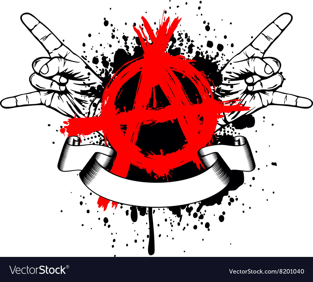 Symbol anarchy and gesture hands