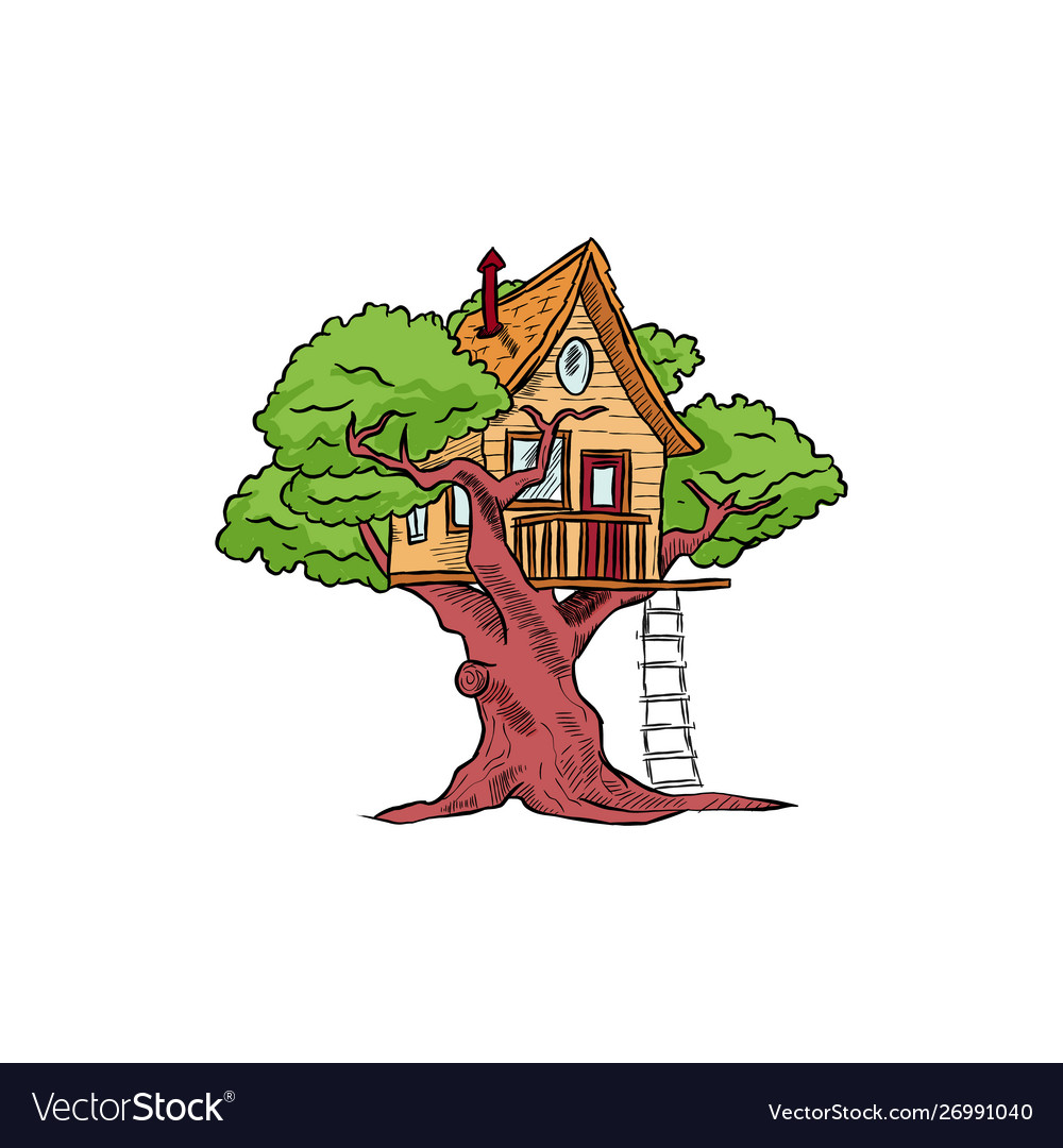 Tree house for playing and parties