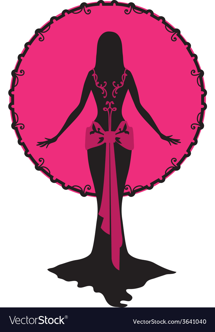 Woman and Moon silhouette vector image