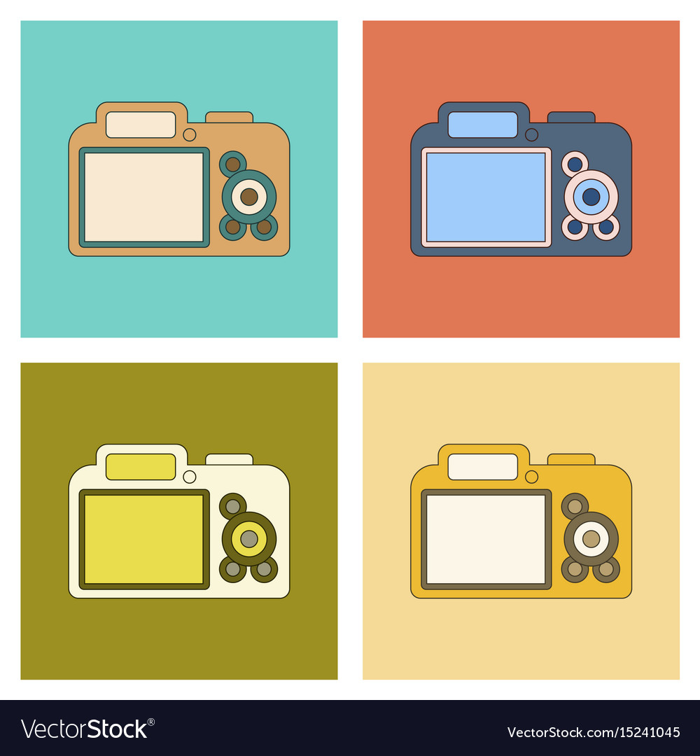 photo camera flat icon symbol photographer
