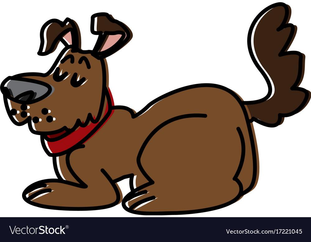Dog pet cartoon