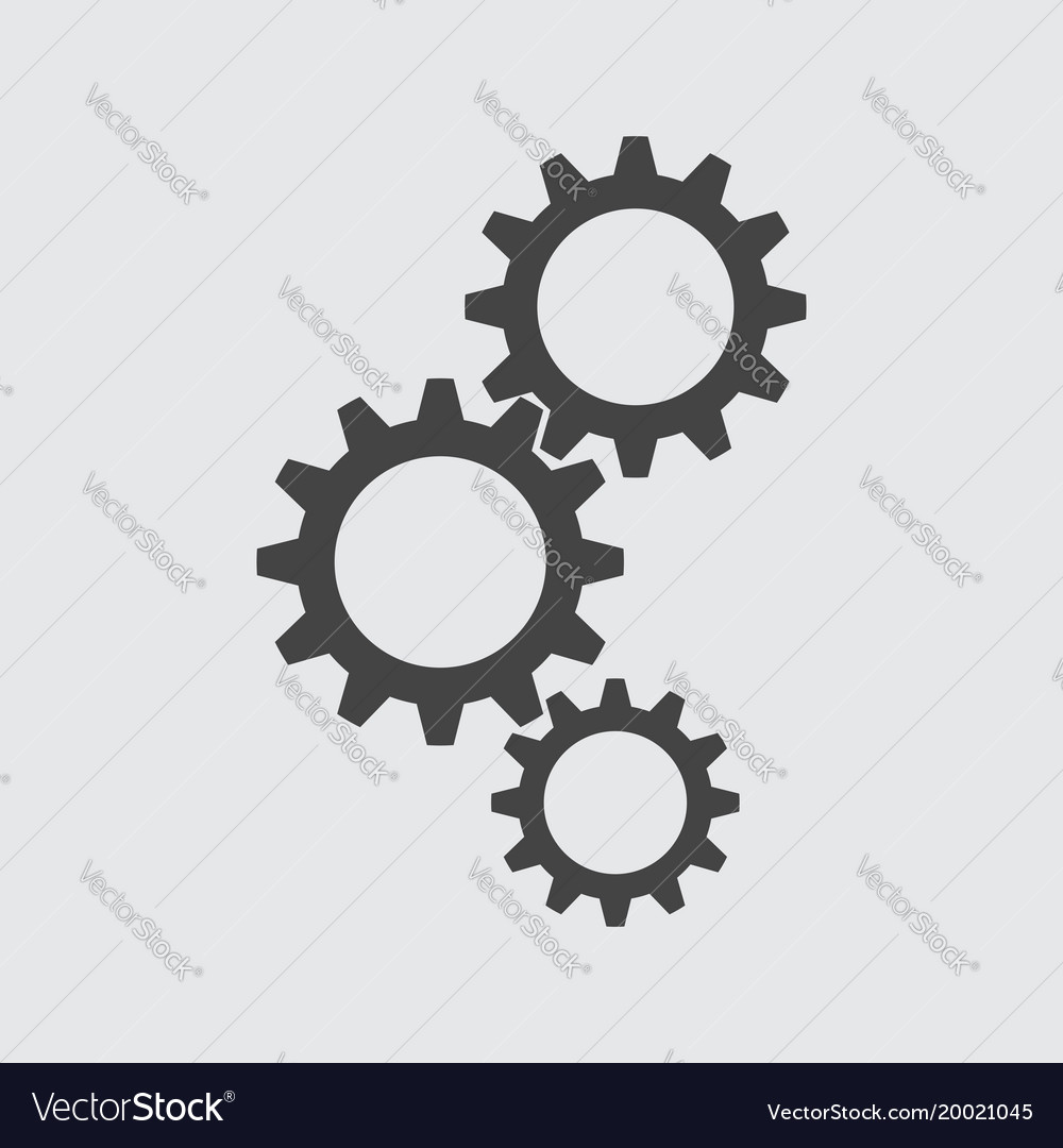 Gear flat icon vector image