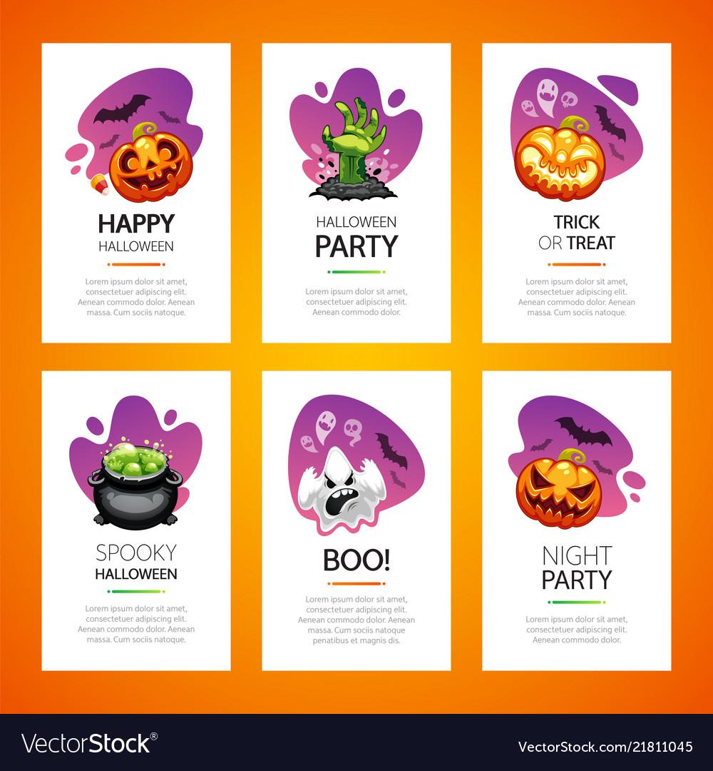 Halloween greeting cards light set
