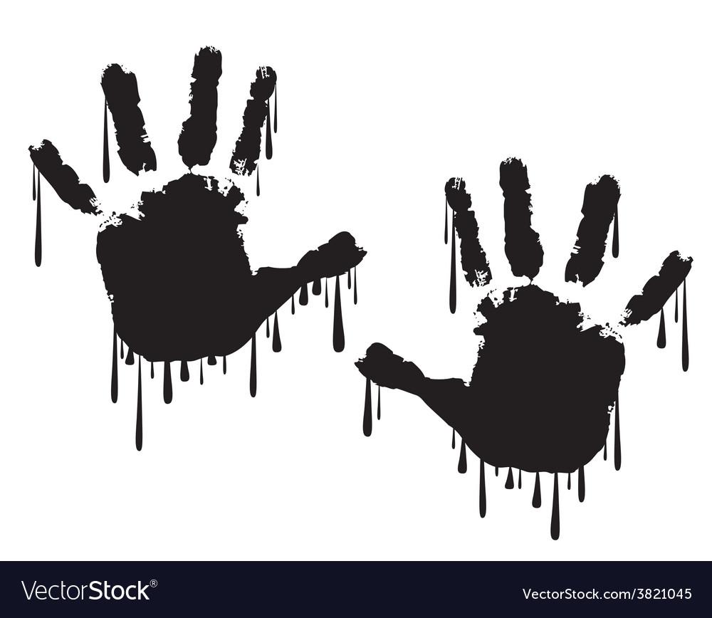handprint royalty free vector image vectorstock rh vectorstock com bloody handprint vector child hand print vector
