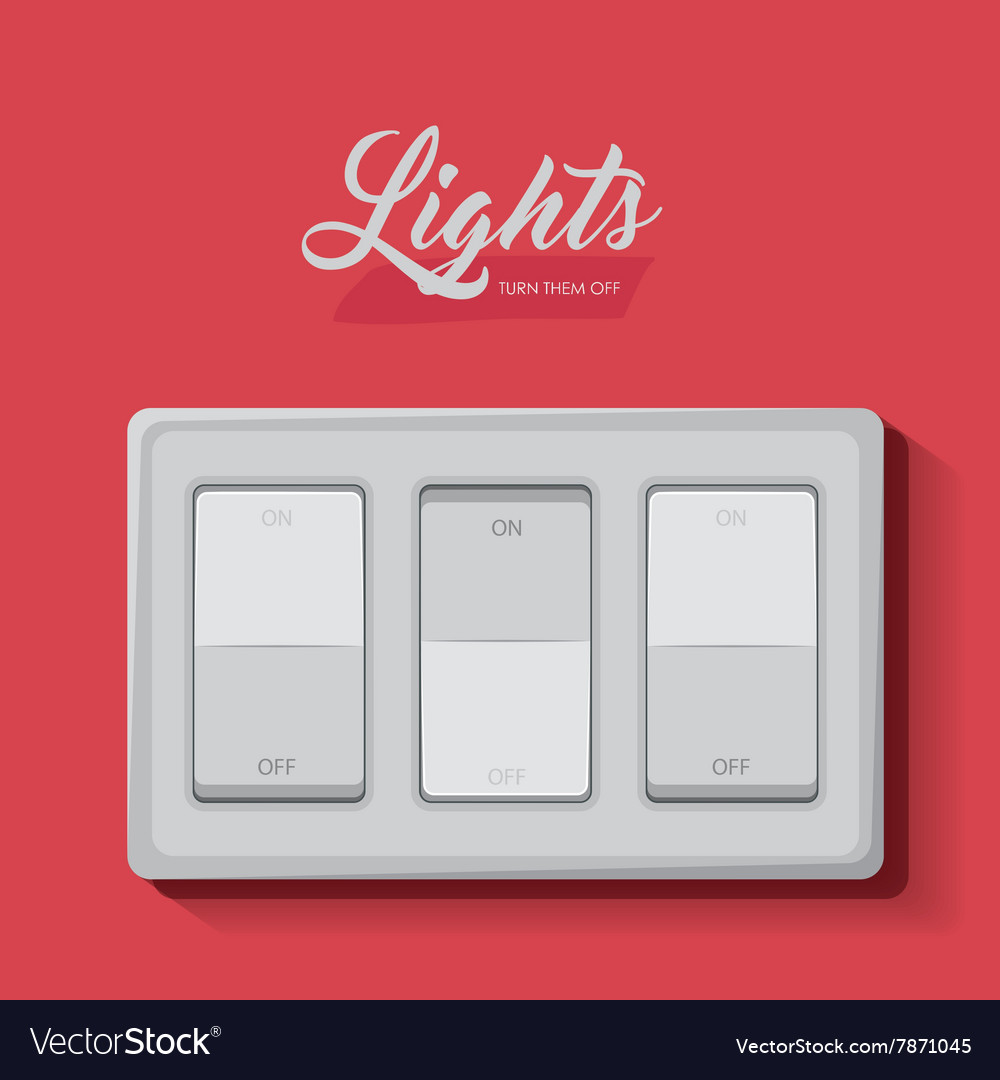Light switch design Royalty Free Vector Image - VectorStock