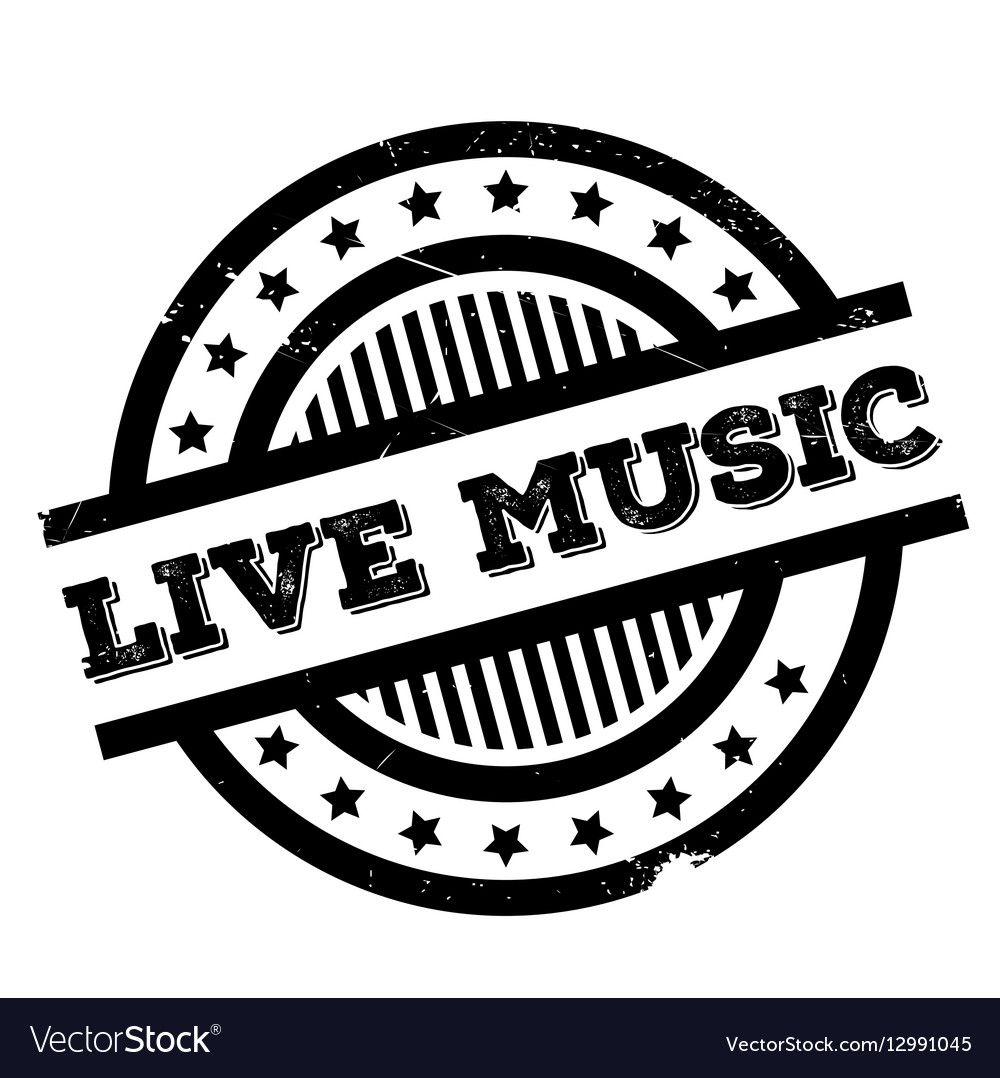 Live Music Rubber Stamp Vector Image