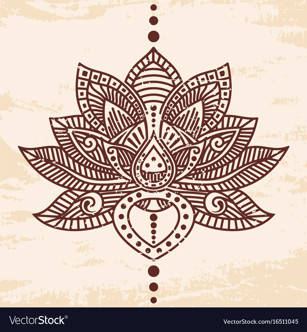 Lotus Flower Tattoo Royalty Free Vector Image Vectorstock