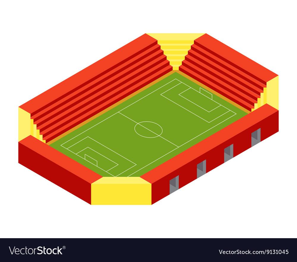 SOCCER STADIUM ISOMETRIC FLAT DESIGN vector image