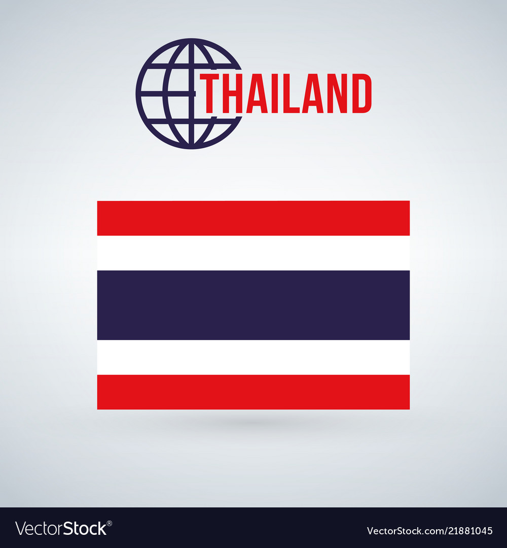 Thailand flag isolated on modern background with