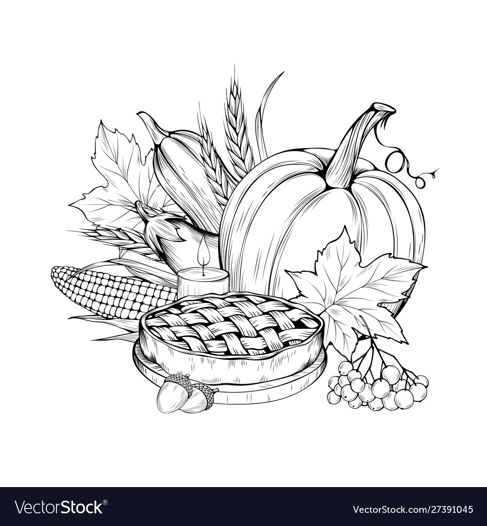 - Vegetarian Food Coloring Book Royalty Free Vector Image