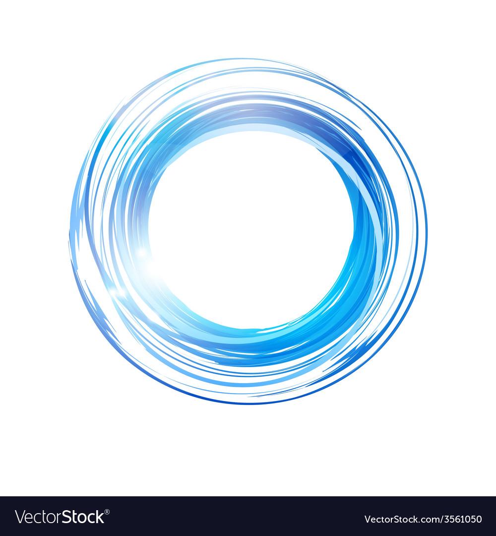 abstract blue circle banner logo design template vector image