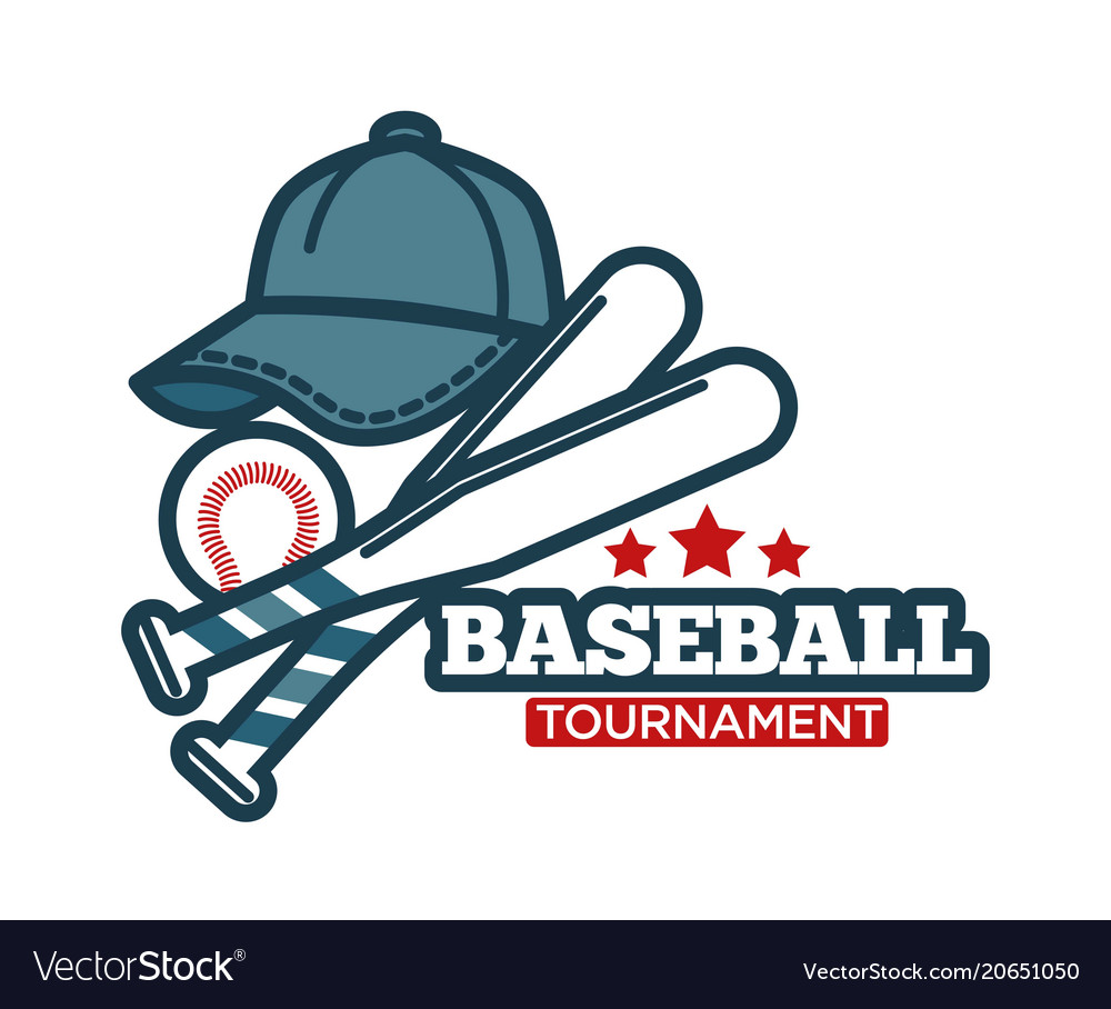 Baseball icon for sport club tournament vector image