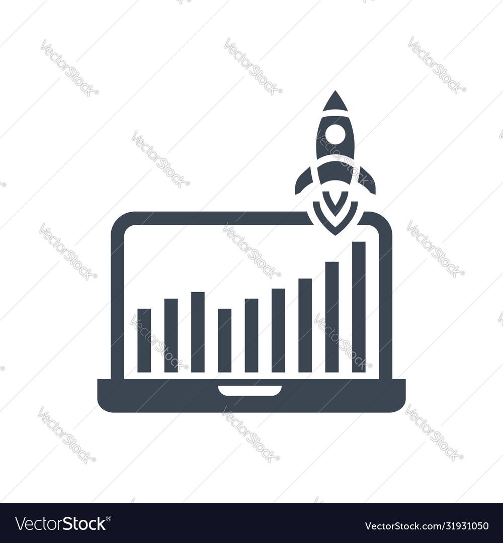 Growth traffic glyph icon