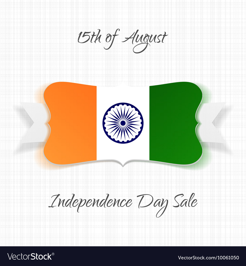 India independence day festive label