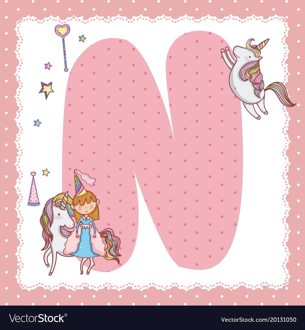 N alphabet letter for kids