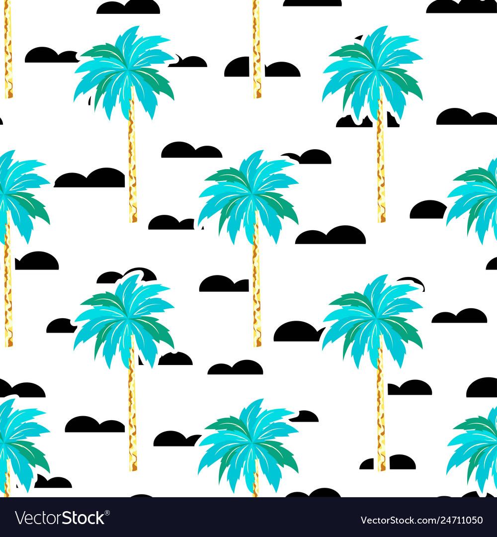 Scandinavian pattern with tree palm