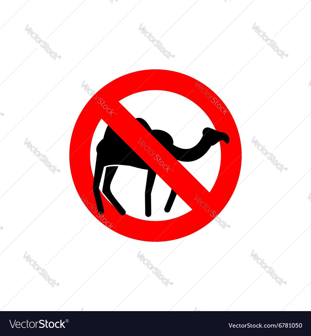 Stop camel Prohibited animal of desert Red