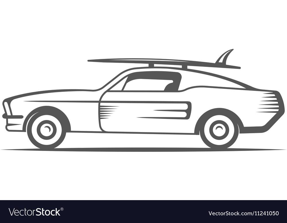 Vintage Surf Car