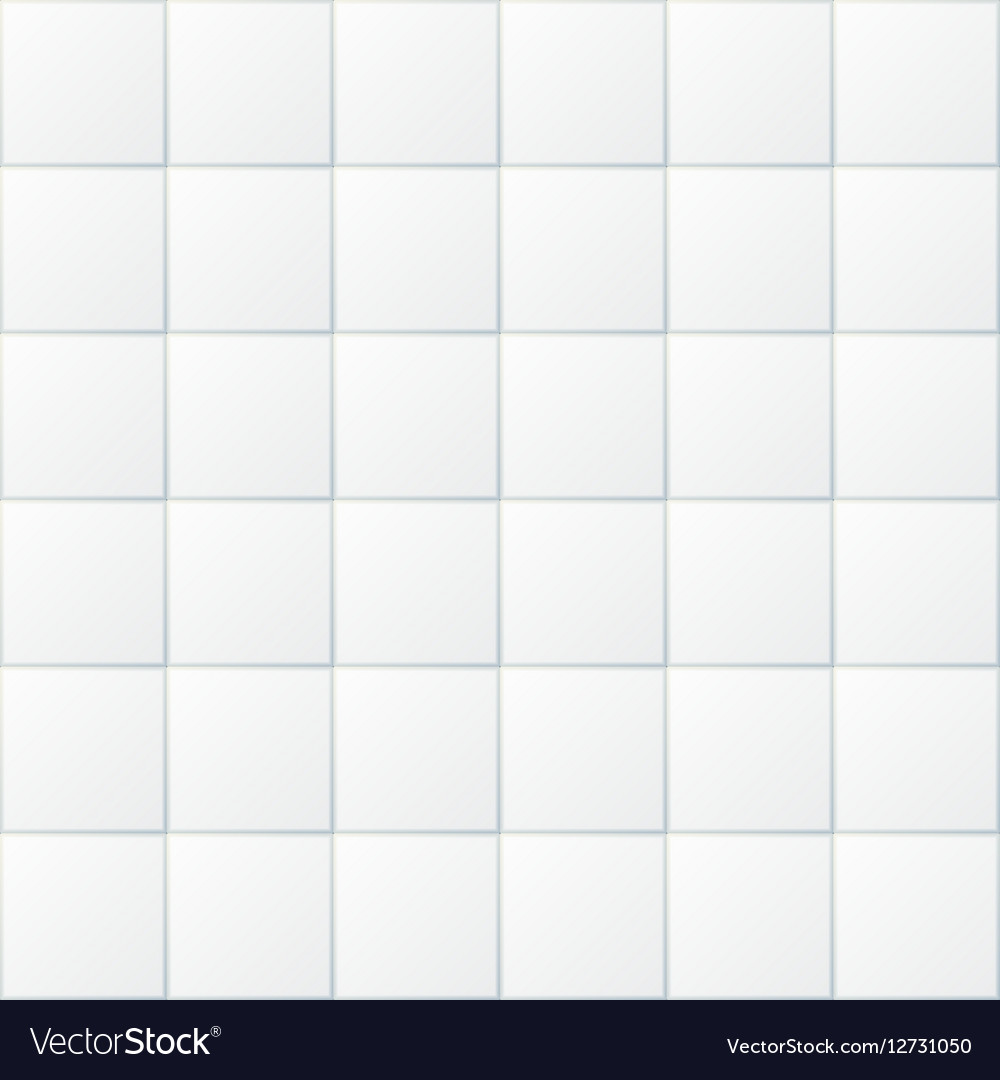 White bathroom tiles ceramic kitchen floor Vector Image