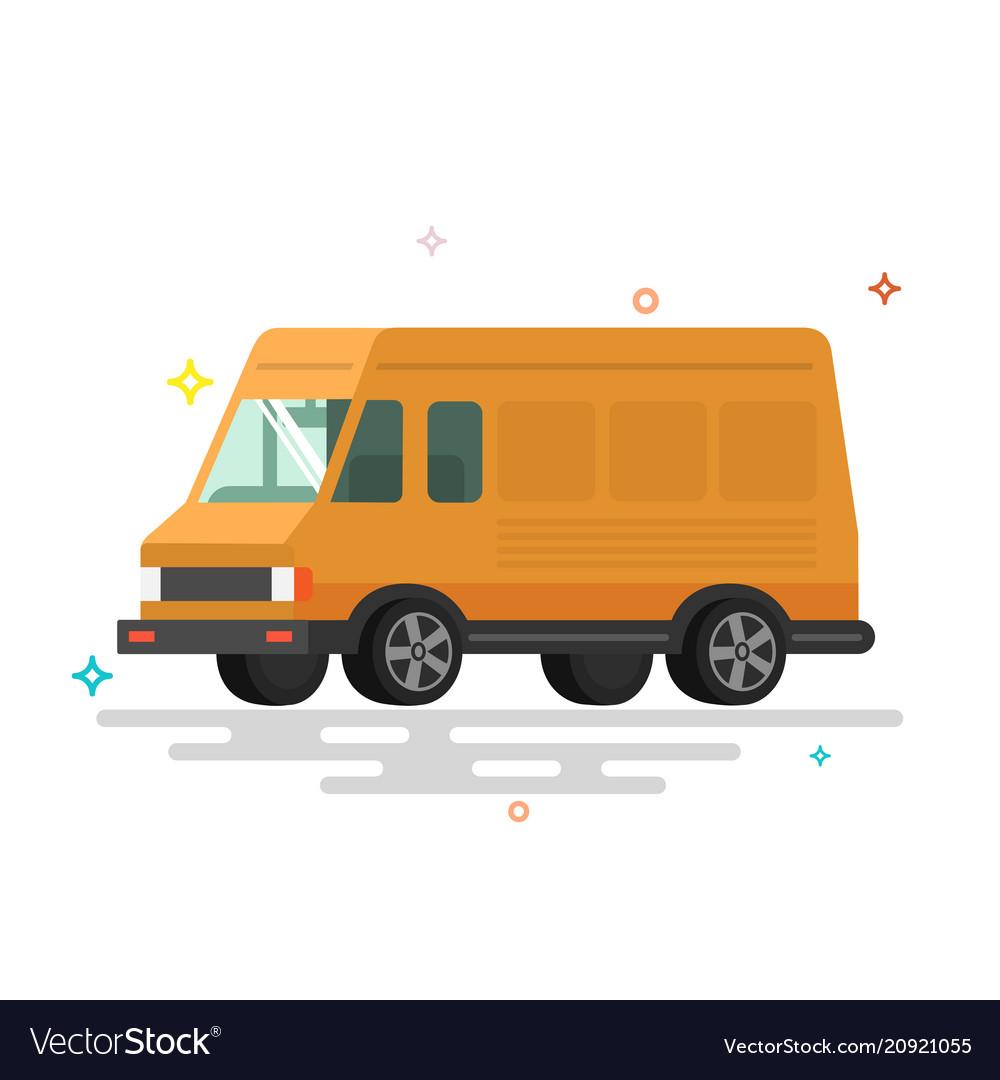 Cartoon delivery van