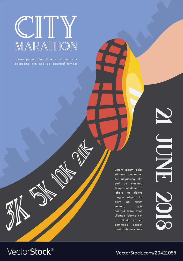 City running marathon athlete runner feet running