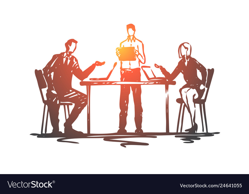 Discussion meeting business people office