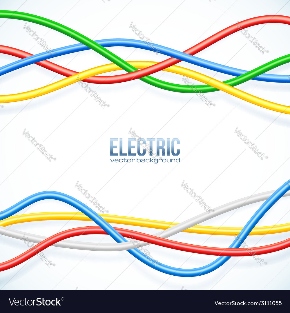 Hanging colored cables background
