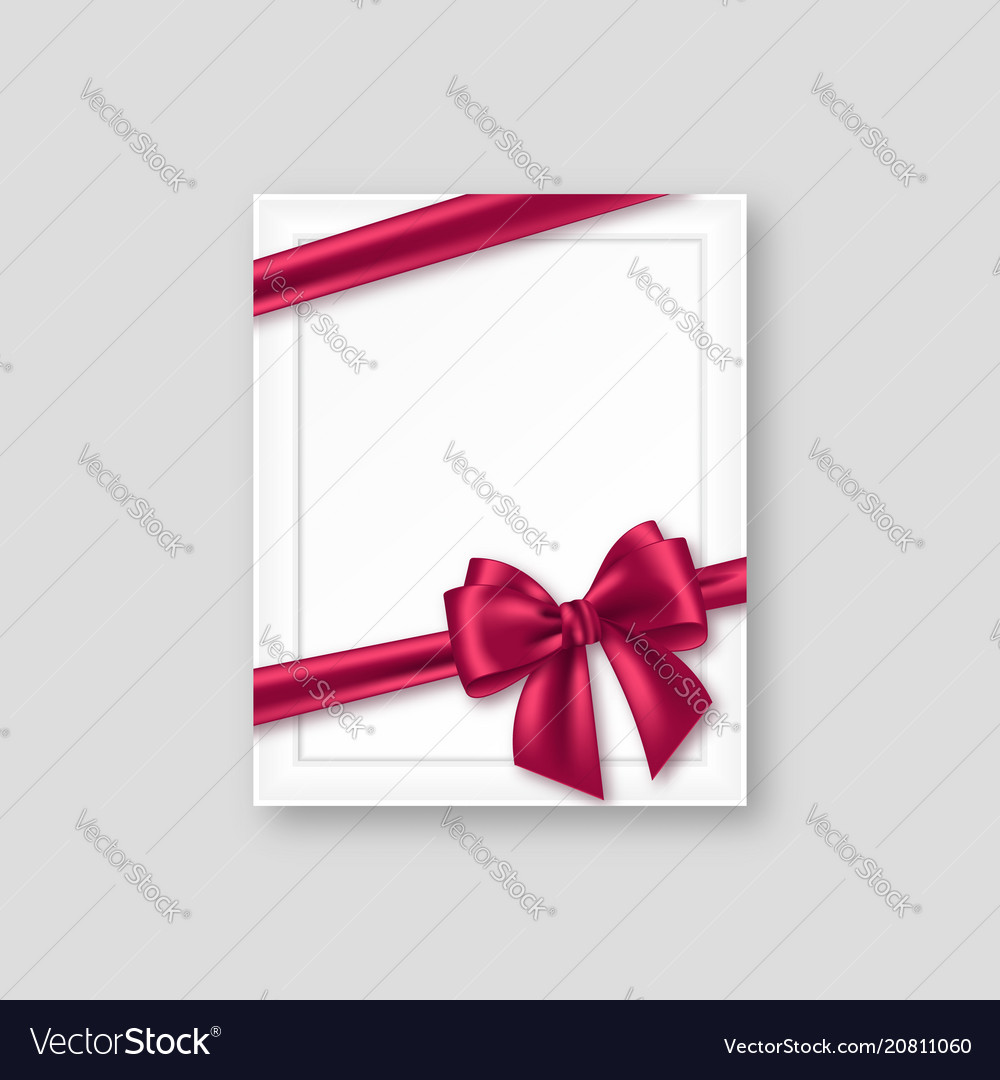 3d realistic picture frame with purple bow