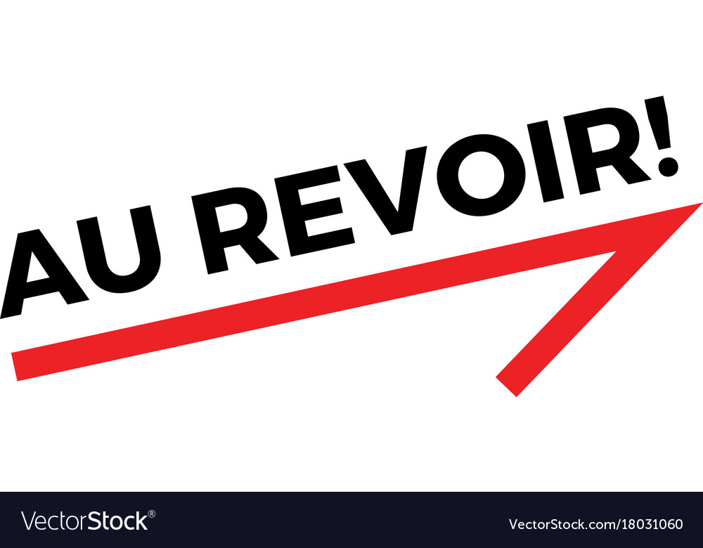 au revoir sticker royalty free vector image vectorstock