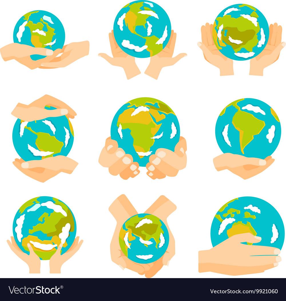 Earth hands set