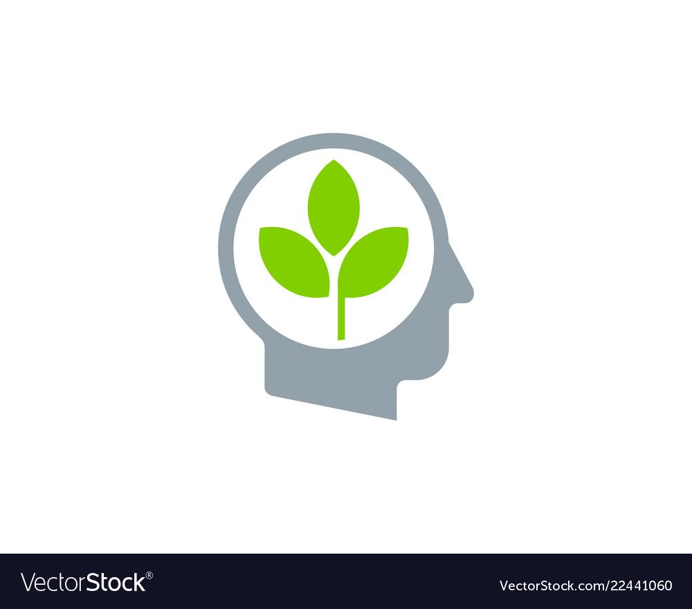Leaf human head logo icon design