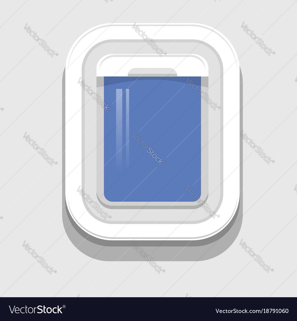 Plastic open plane window vector image