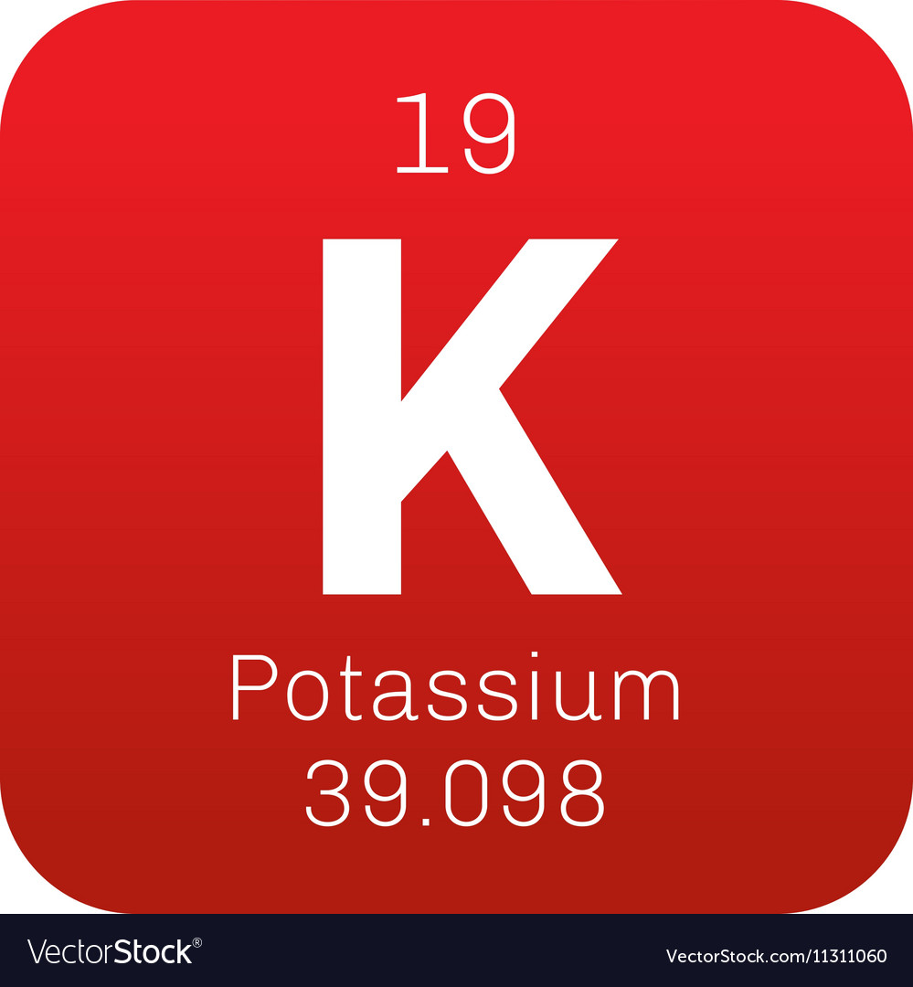 Potassium Chemical Element Royalty Free Vector Image