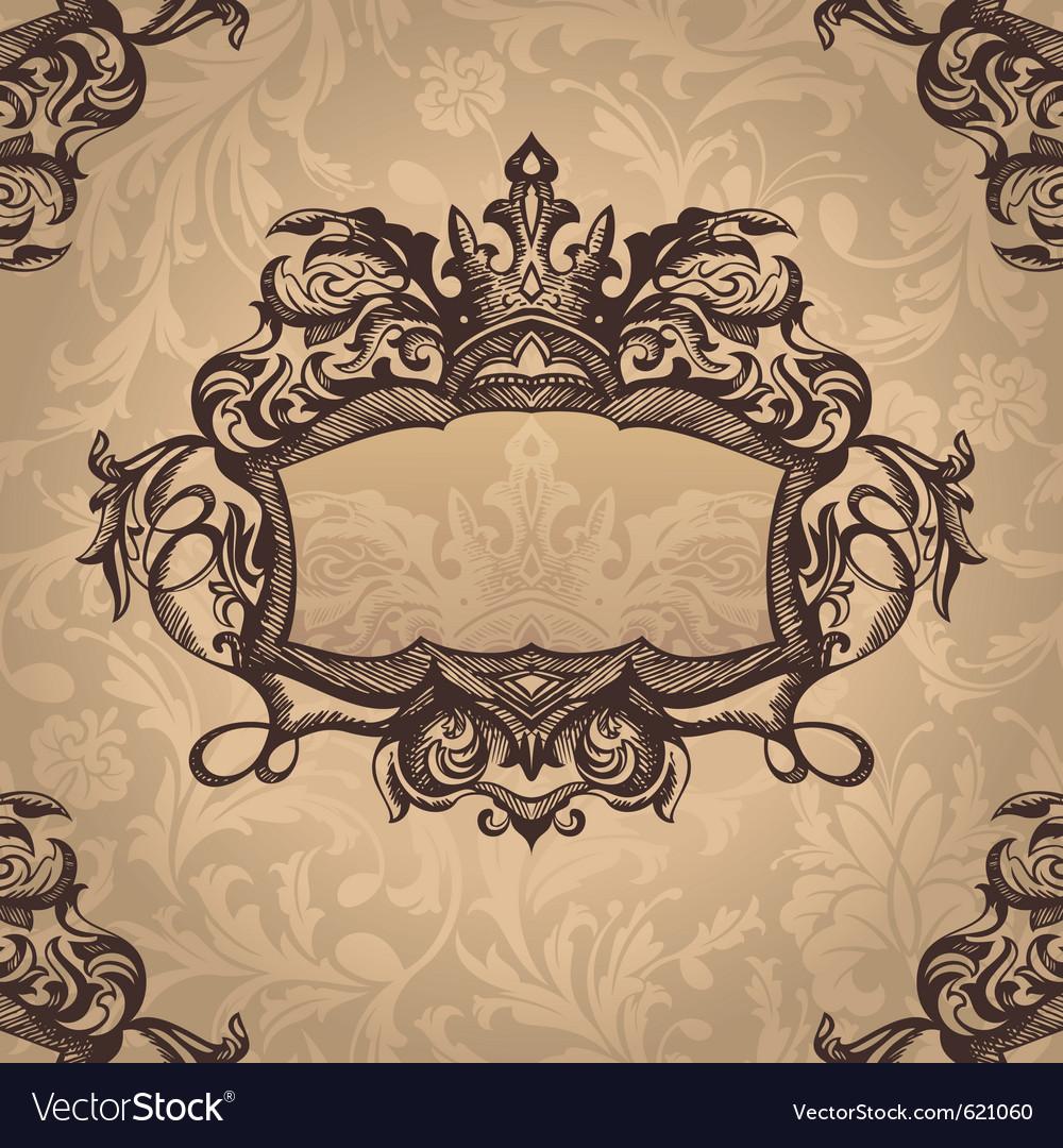 Retro royal vintage frame vector image