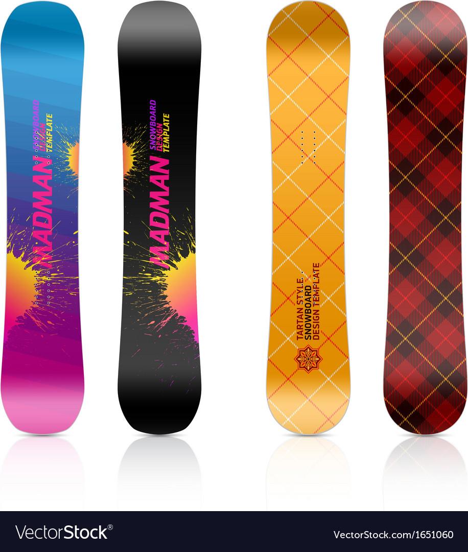 Snowboard Design Royalty Free Vector Image Vectorstock