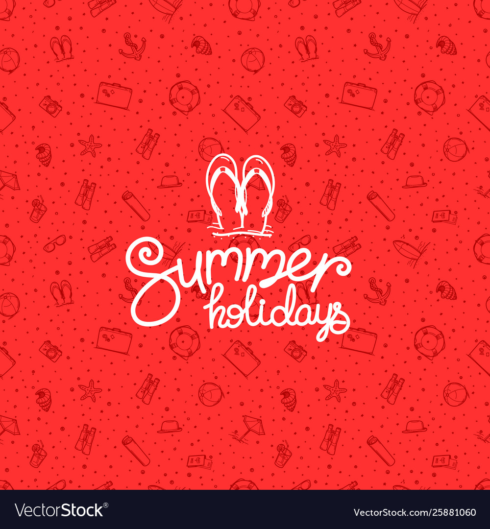 Summer holidays red banner